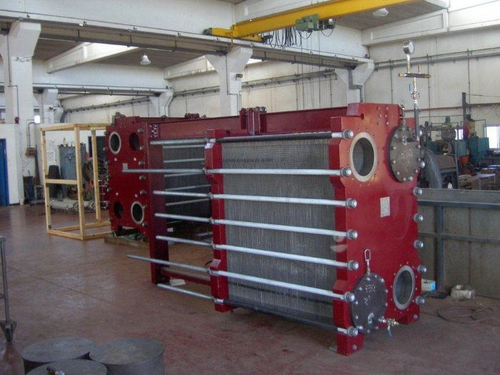 Pictured: One of Krashin-Shalev's titanium plate heat exchangers. The units were supplied to the IEC Eshkol Power Station.